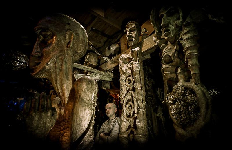Andrzej Siek rzeźba w drewnie, sculpture in wood